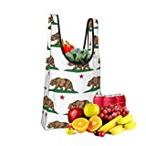 Mark Stars California Bear Proud Fold Eco-Friendly Shopping Bags Large Capacity Daily Necessity