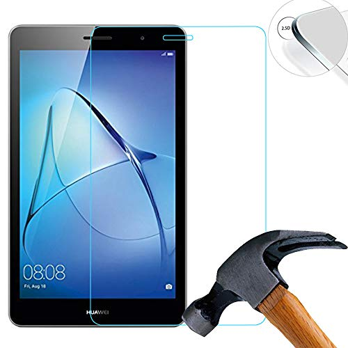 2 x Pack Panzerglasfolie Schutzfolie für Huawei MediaPad T3 (BG2-U01) 3G-Version 7.0 Zoll Displayschutz Tempered Glass Folie Screen Protector Panzerfolie Glasfolie 0,3 mm 9H Clear 2.5D
