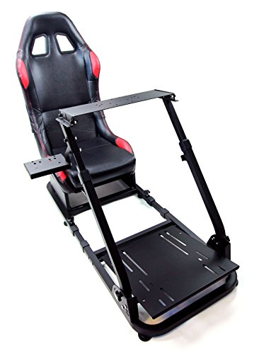 Tanaka Driving Simulator Wheel Stand Cockpit Gaming Chair with Gear Shifter Mount (Black with Racing Chair) Chairs Dining Features Game Home Kitchen Video
