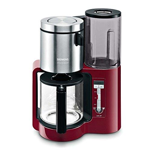 Siemens TC86304 Machine à café avec verseuse en acier inoxydable, capacité 10-15 tasses Rouge 1160 W