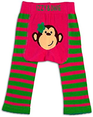 Izzy & Owie Baby Girl Leggings Monkey, 12-24 Month, Pink, 12-24 M