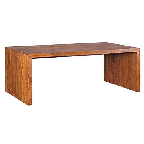Wohnling Design Natur Sheesham Massivholz Schreibtisch 200 x 100 x 76 cm