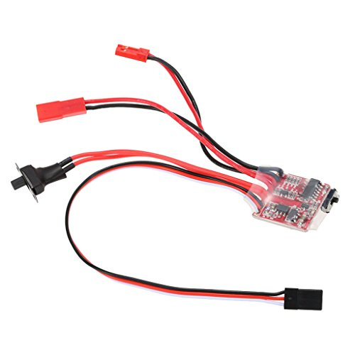 10A Brushed ESC Speed Controller With Brake For 1/16 1/18 1/24 RC Car Boat