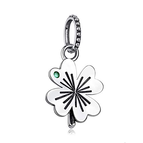 LILIANG Charm Jewelry Auténtica Plata De Ley 925 Lucky Four-Leaf Clover Beads Charms Fit Original Pulsera Collar Fabricación De Joyas