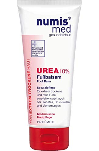 numis med Fußbalsam mit 10% Urea - Fußpflege parfümfrei & vegan - Fußcreme für extrem trockene, raue & rissige Füße - Fusscreme (1x 100 ml)