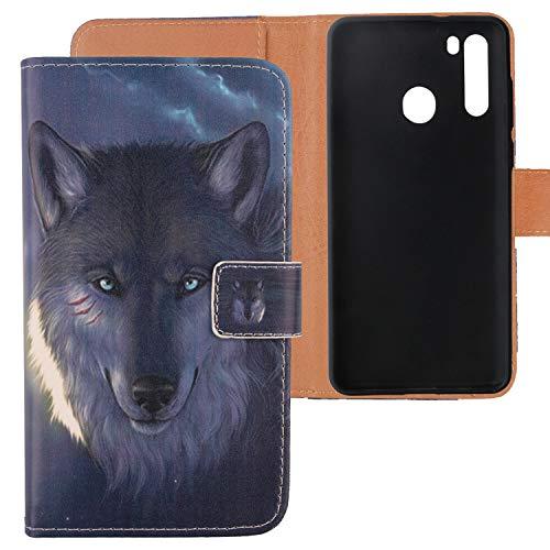 Lankashi PU Flip Leder Tasche Hülle TPU Silikon Hülle Cover Handytasche Schutzhülle Etui Skin Für Blackview A80 Pro / A80 Plus 6.49