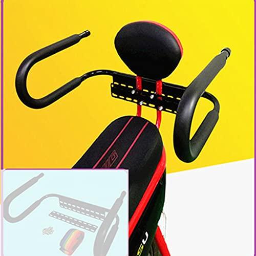 Silla Bicicleta Nino De Seguridad Ajustable Y DesmontableAsiento Trasero De Bicicleta Uso General para Adultos Y NiñosSeguridad para Niños para Niños De 2 A 10 Años Adecuado