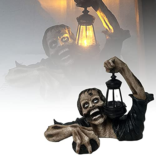 Zombie Lantern Decorations, Horror Movie Garden Gnomes, Zombie Crawling Out of Grave, Spooky Undead...