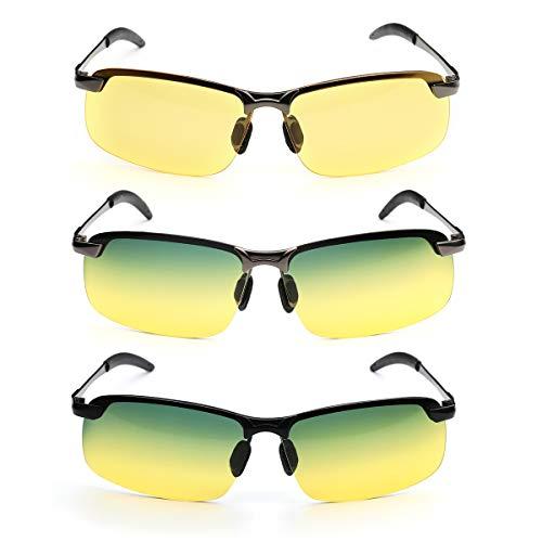 LMIAOM Frauen Männer UV400 polarisierte Sonnenbrille Clip auf dem Fahren Tag-Nachtsicht-Brillen Reparaturwerkzeug für Zubehörteile (Color : 2#)