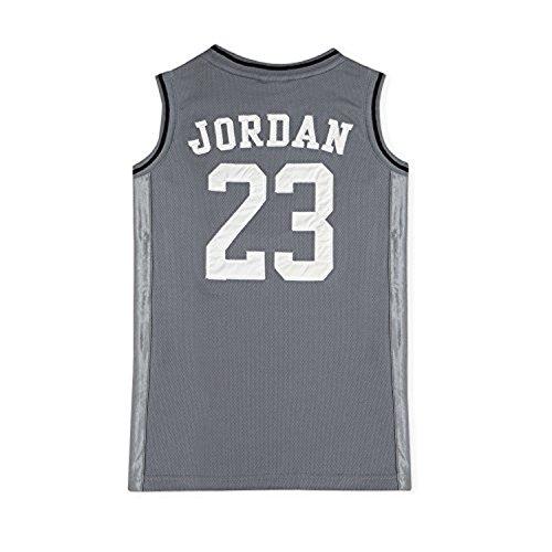 Nike Jordan Boys Youth Classic Mesh Jersey Shirt (Grey, XL(13-15YRS))