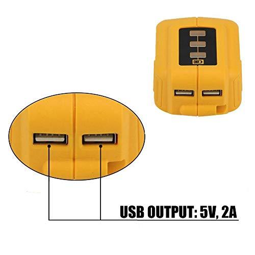 weqcter 12V/20V Max USB Power Source for Dewalt DCB090 Converters Fit for Dewalt 20V 12V Battery
