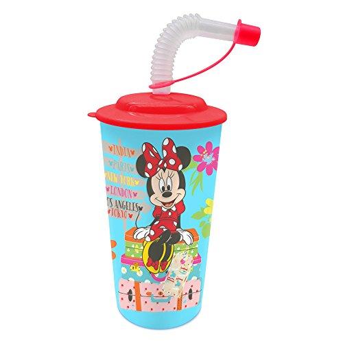 Minnie Mouse - beker met deksel en suikerriet (Suncity mid101416)