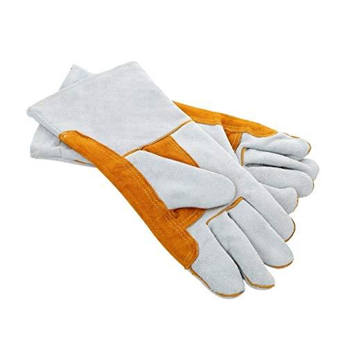 FYCZ Handschuh Schweißhandschuhe, Hohe Temperatur Ausgekleidet Feuerschutzhandschuhe Arbeitshandschuhe Hitzebeständiger Haltbarer Kamin 02