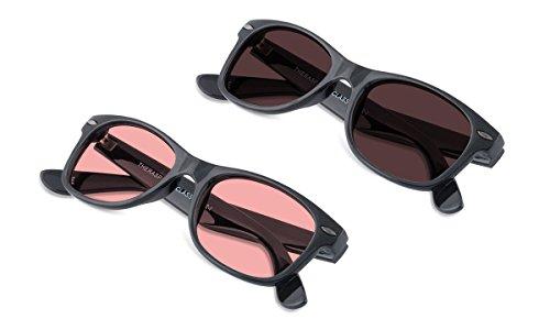 (Bundle) TheraSpecs Classic Blue Light Glasses for Migraine, Light Sensitivity