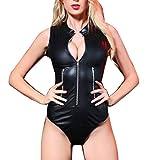 SCHOLIEBEN Dessous Damen Set Erotik Große Größen Lack Leder Frauen Body Babydoll Provocative...