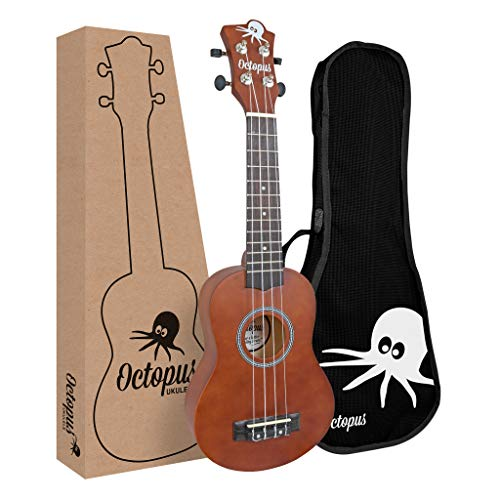 Octopus Ukulele UK200D-BR Ukelele soprano, marrón natural
