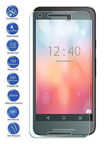 Todotumovil Protector de Pantalla Google Nexus 5X 5 X de Cristal Templado Vidrio 9H para movil