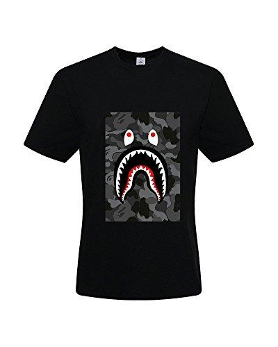 Triumph DIY Bape Shark Bomber Men's 100% Cotton Short Sleeve T-Shirt
