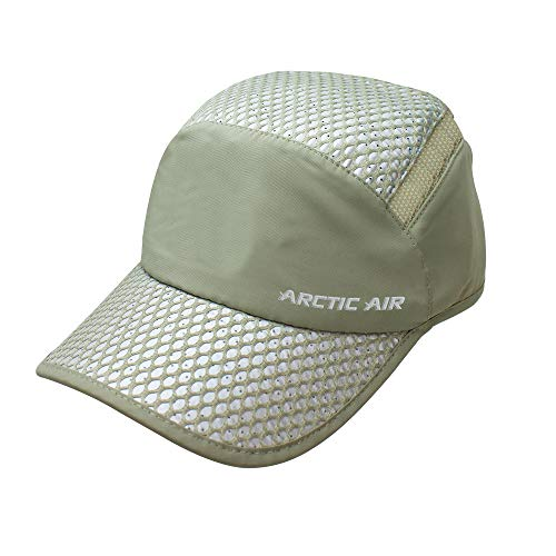 Ontel Arctic Air Evaporative Cooling Cap, Beige, Adjustable
