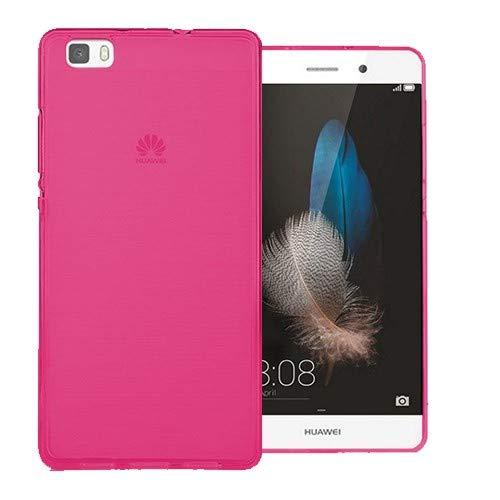 Mb Accesorios Funda Carcasa Gel Rosa para Huawei P8 Lite 2016, Ultra Fina 0,33mm, Silicona TPU de Alta Resistencia y Flexibilidad