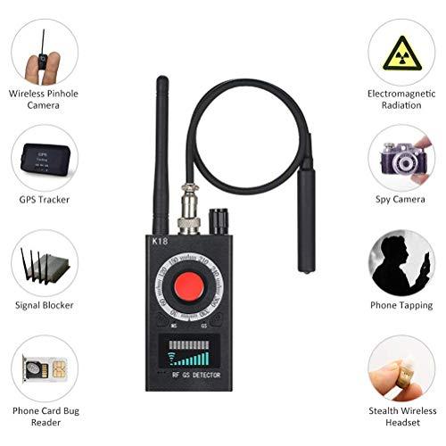 HIMU Détecteur RF Bug Détecteur Anti-espion Signal Détecteur Omnipotent Caméra Cachée Laser Lens Device GSM Finder
