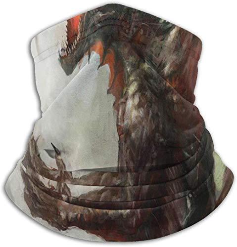 JKHHW Mittelalterliche mythologische legendäre Dragon Unisex Fleece Nackenwärmer Winddicht Winter Nackenschutz kaltem Wetter Gesichtsmaske für Männer Frauen