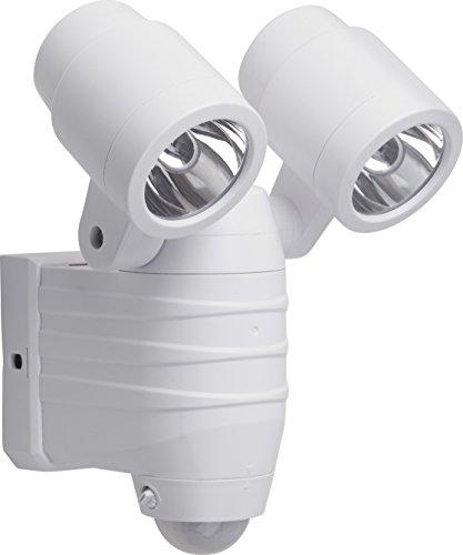 Meister LED-Außenstrahler - 8 Watt - Batteriebetrieben - Bewegungsmelder - 8 m Reichweite - Spritzwasserschutz - 380 Lumen / Außenleuchte mit Bewegungssensor / Wandfluter / Flutlicht / 7490110