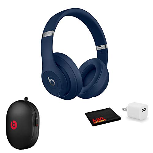 Beats by Dr. Dre Studio3 Wireless Bluetooth Headphones (Blue/Core) Kit with USB Adapter