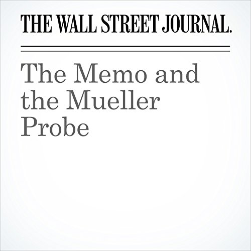 The Memo and the Mueller Probe copertina