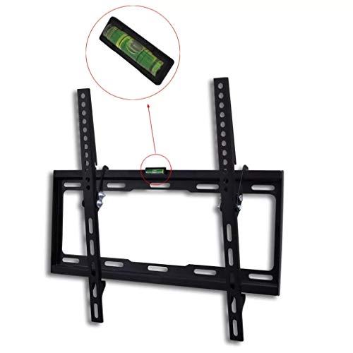 Neigbare TV-Wandhalterung, 15 Grad neigbar, mit eingebauter Wasserwaage, für die meisten 23 Zoll bis 55 Zoll LED LCD Fernseher VESA 400 x 400 mm und 90 kg Tragkraft