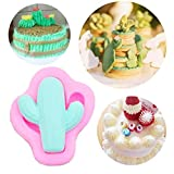 Angoter 1PCS Familie Silikon-Kaktus-Form-Form-Seifen-Form-Kuchen, Schokolade Stencils Fondant...