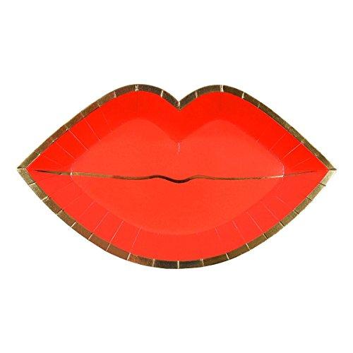 Meri Meri Teller in Lippen-Form