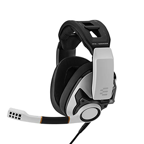 EPOS I Sennheiser GSP 601 Gaming Headset, Noise-Cancelling Mic, Flip-to-Mute, Ergonomic Headband, Foam Ear Pads, Compatible with PC, Mac, PS4, PS5, Xbox Series X, Xbox One, & Nintendo Switch (White)
