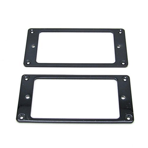 Black Metal Flat Electric Guitar Humbucker Pickup Ring, Frame Mounting Ring Pack of 2