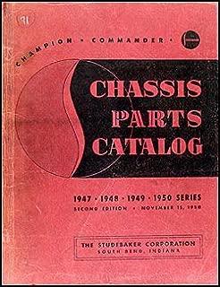 1947-1950 Studebaker Champion Commander Mechanical Part Book Original