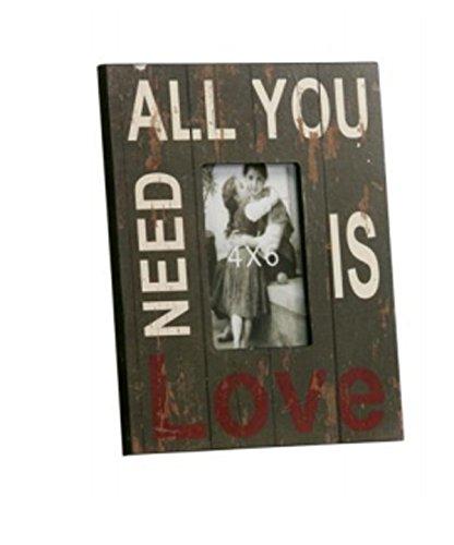 SCHÖNER LEBEN. Fotorahmen Bilderrahmen Holz 'All You Need is Love' 23x28cm