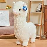18' Alpaca Plush Toy, Llama Stuffed Animal Large Doll Plushie Hug Pillow Soft Fluffy Cushion Super Kawaii Gift for Birthday Girls and Lovers Washable (White)