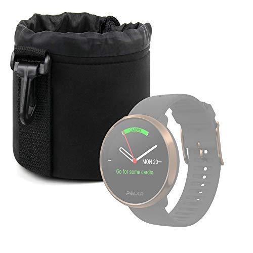 DURAGADGET Bolsa Negra Compatible con Smartwatch Suunto Spartan Sport Wrist HR, Suunto 9 Baro, Polar Ignite, Montblanc Summit 2 - Ligero para Transportar