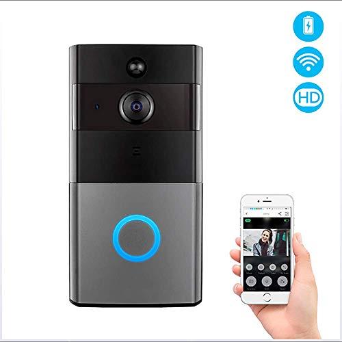Video deurbel, 720P HD-ring video intelligente tweeweg gesprek bel-camera bewegingsdetectie met nachtzicht en waterdicht