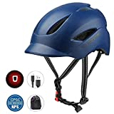 Adult Bicycle Helmet Classic Urban Commuter Bike Helmet Hat Tongue Design Rechargeable USB Safety Light CPSC...