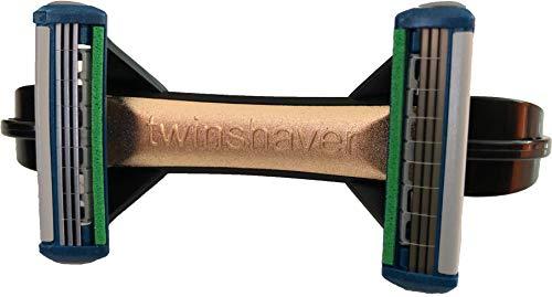 twinshaver schwarz-gold