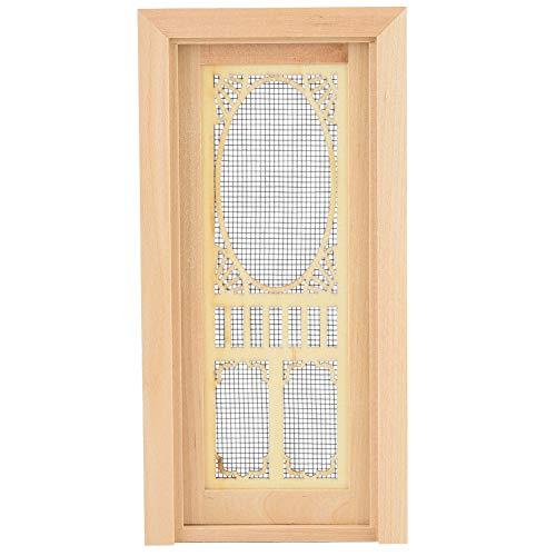Tnfeeon Puerta de la muñeca, 1:12 Muebles de la casa de muñecas Miniatura Hueca de Madera Puerta única Modelo de Muebles excelente para muñecas
