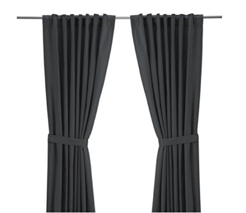 IKEA Ritva Grey Curtains Grey