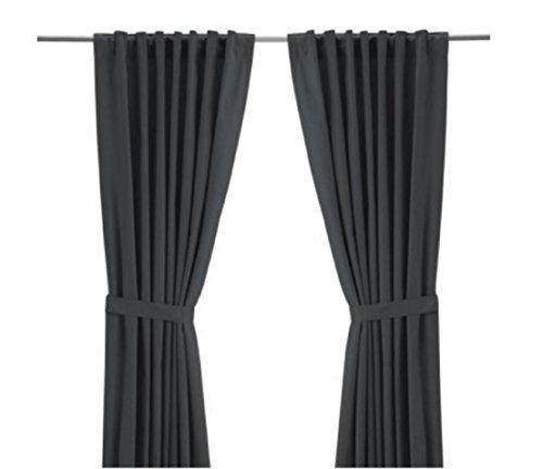 IKEA Ritva Grey Curtains Grey
