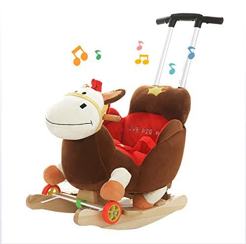 JTYX Silla Mecedora Infantil Mecedora Caballo Mecedora Animal Cuna Regalo de cumpleaños del bebé