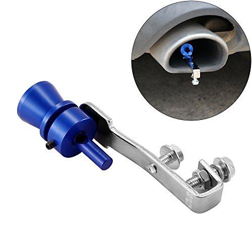 SmartHitech Silbato de Sonido Universal para Automóvil - Silbato Turbo de Mágico para Tubo de Cola de 37mm a 48mm, Silenciador de Escape de Aleación de Aluminio Tubo de Silenciador