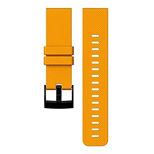 Suunto Traverse Amber Silicone Strap Correa, Unisex, Naranja (Ambar), Talla Única