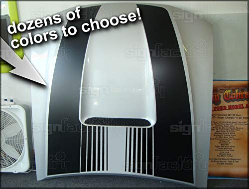 Custom Hood Racing Stripes Decals Saleen Shelby V6 GT - 99-04 Compatible with Mustang