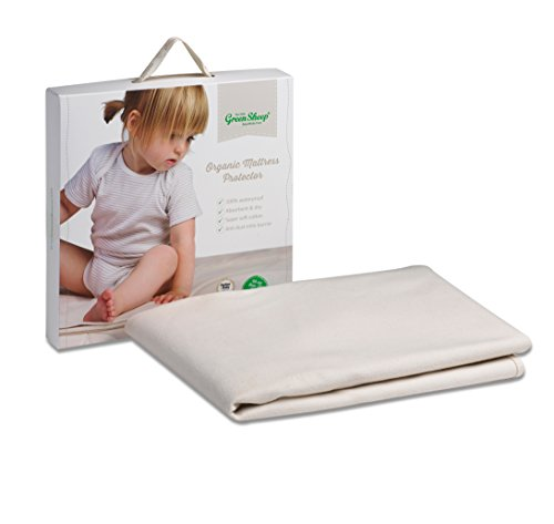 The Little Green Sheep Organic Waterproof Cot Mattress Protector (60x120cm)