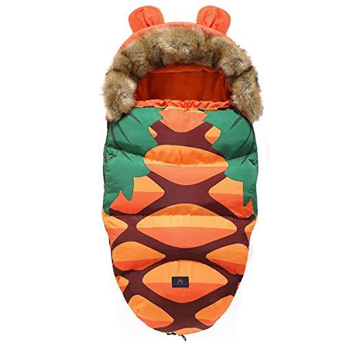 Drizzle Baby Swaddle Decke Indoor Outdoor Flanell Anti Kick Baby Schlafsack Wasserdicht Warm für Kleinkinder Neugeborene Jungen Mädchen 0-36 Monate Baby Quilt (Pineapple)